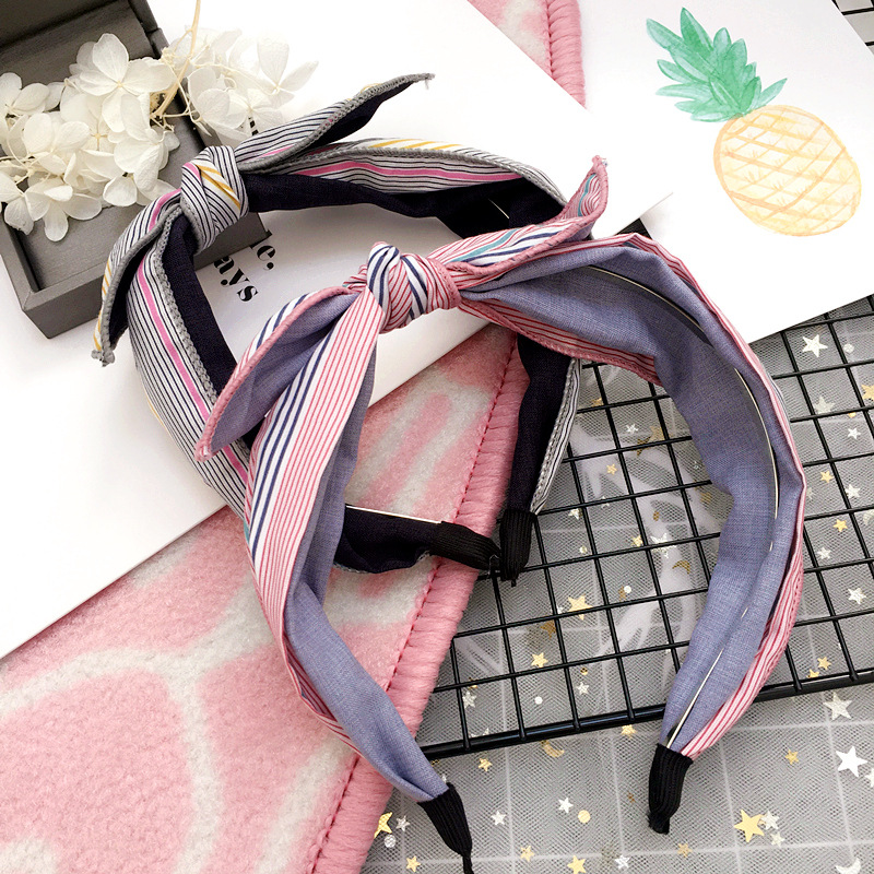 Korea Fabric Bunny Hair Bands Rabbit Ears Hairband Flower Crown Headbands For Girls Hair Bows Hair Accessories D Apparel Accessories