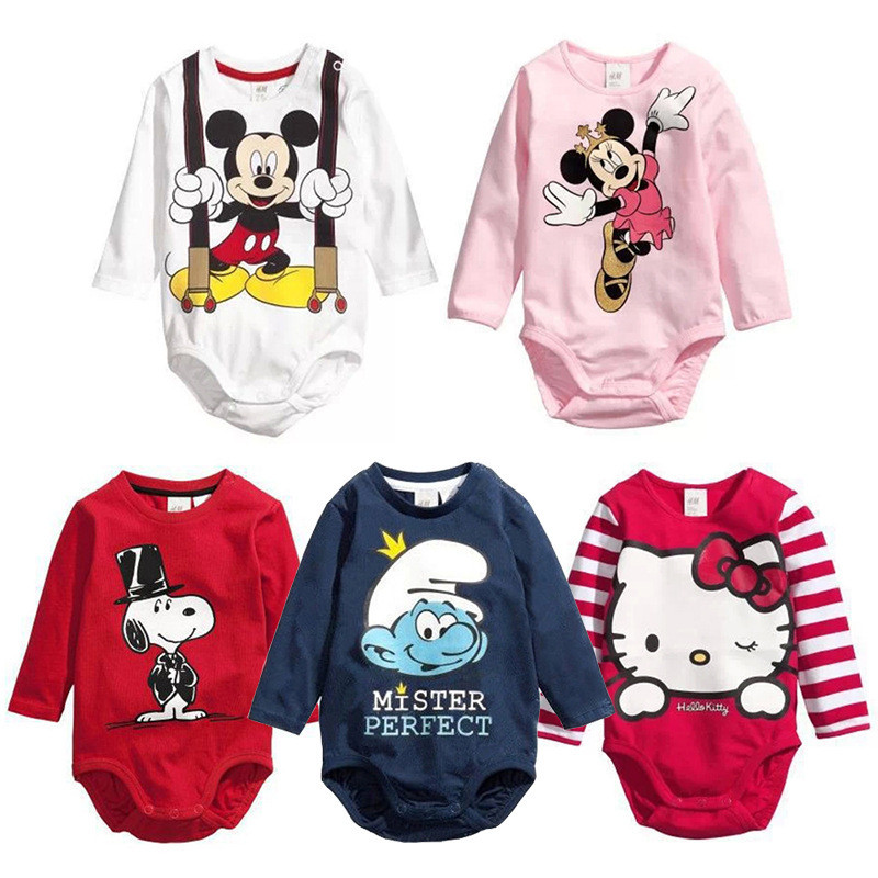 Cartoon Baby Boy Rompers Cotton Baby Girl Clothes Clearance Sale Toddler Roupas Bebe Infant Jumpsuits Baby Clothing Long Sleeve цена