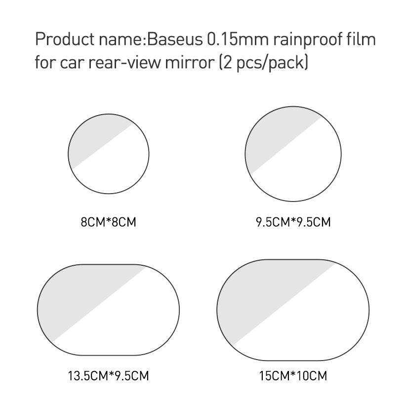 Image 5 - Baseus 2 Pcs 0.15mm Car Rearview Mirror Window Clear Film Anti Fog Window Foils Rainproof Protective Car Sticker-in Car Stickers from Automobiles & Motorcycles