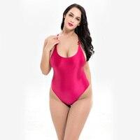 Brand Swimwear Women 2018 One Piece Sexy Raceback Hollow Out Swimsuit One Piece Thong Bodysuit Swimwear Plus Size 6XL Monokini