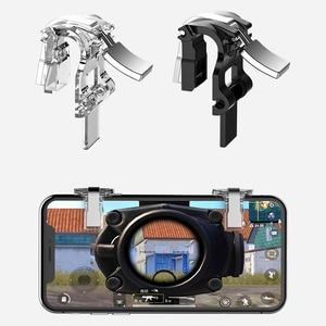 Image 5 - S4 透明金属 Pubg 携帯ゲームコントローラ L1R1 シュータートリガー火災ボタン目的キーのための Iphone の Android IOS