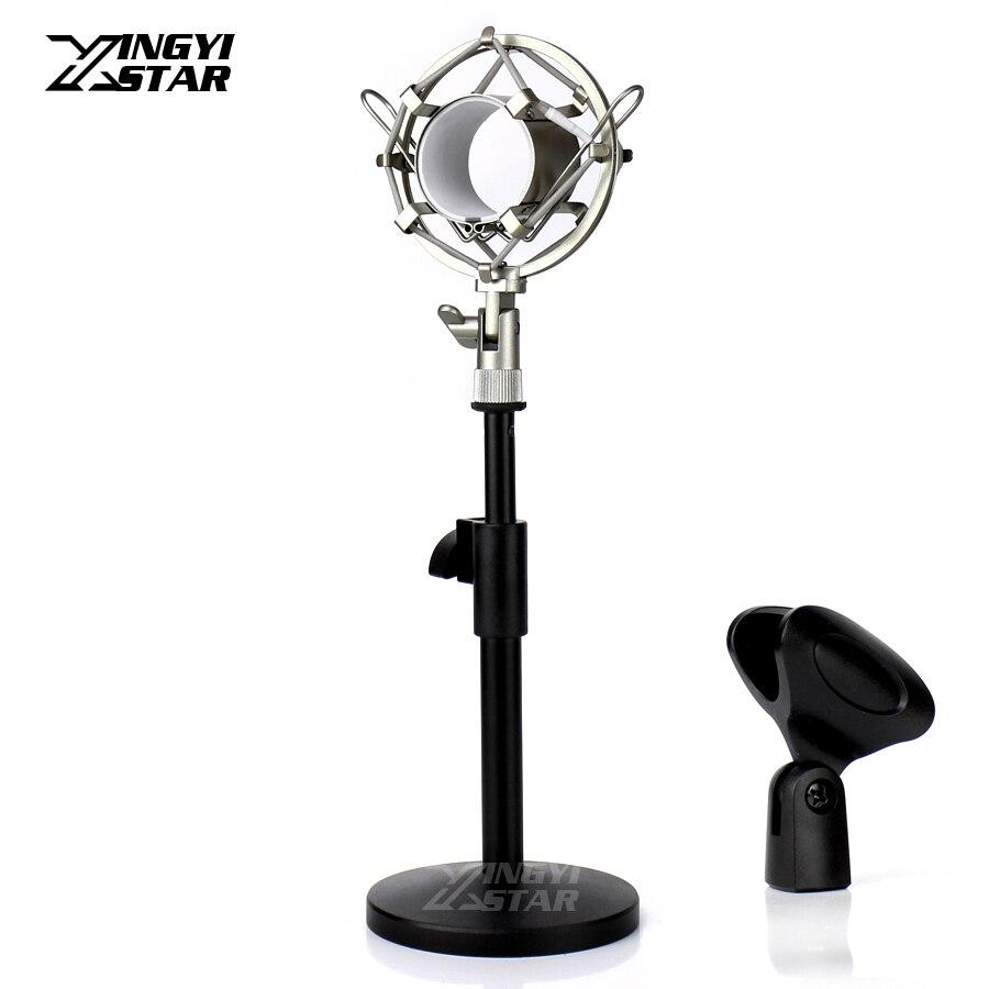 Verarbeitung In Metall Spinne Mikrofon Mount Clip Desktop-ständer Mikrofon Halter Stoßfeste Für Avantone Cv 12 Bla 95 Ck 6 7 Bv 1 12 Exquisite