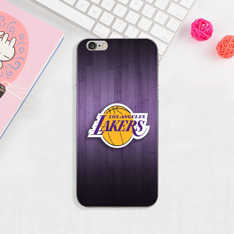 huge discount 1b0dd 426b6 US $1.99 |Angeles Lakers Basketball Team Logo Soft TPU Mobile Phone Case  for iPhone X XR XS MAX 8 7 6 6s Plus 5 5S SE 5C 4 4S Coque Shell-in ...