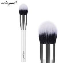 vela.yue Duo Fiber Tapered Foundation Brush Multitasker Face Makeup Brush