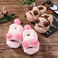 Девочка дом обуви детские зимние тапочки детские теплые тапочки девушки мультфильм утолщаются плюшевые розовые киски высокий каблук кошка кроссовки
