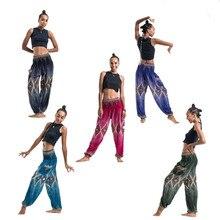 New Floral Print Pants Women Loose Elastic Waist Casual Thai Summer Boho Beach