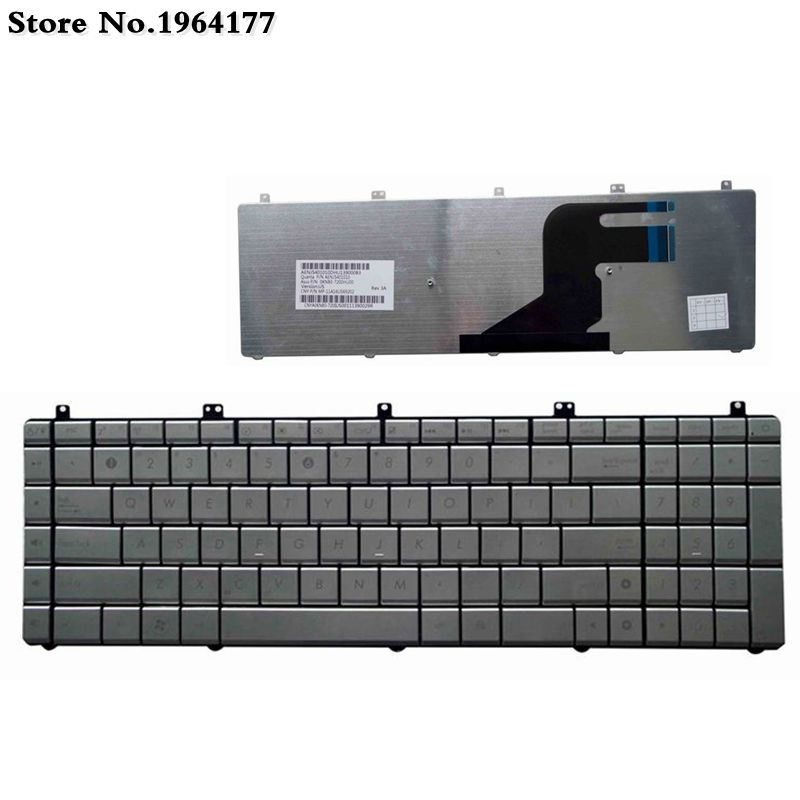 NEW US Layout Silver Laptop <font><b>Keyboard</b></font> for <font><b>Asus</b></font> series N75SL N55SF N55SL N55SF N75SFN55 N75 N75SF N75S N75Y image