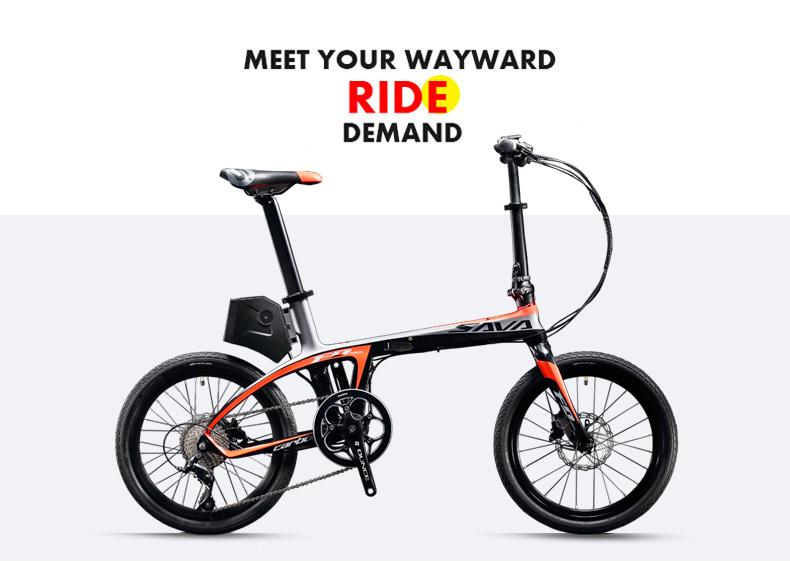 SAVA E6 Electric Bicycle Carbon Fiber 20