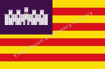 Spain of the Balearic Islands of flag 150X90cm (3x5FT) 120g 100D Office/Activity/parade/Festival/world cup/Home Decoration image