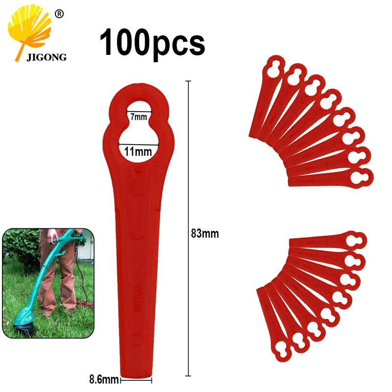 100pcs Sawing Plastic Blade Pendants For DKGT06 20V Lithium 1500mAh Cordless Grass Trimmer Garden Trimmer