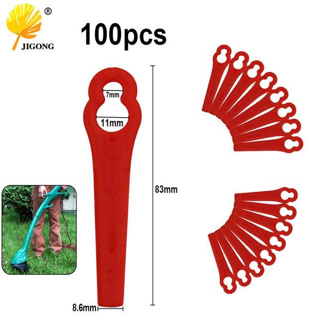 100 pièces scie plastique lame pendentifs pour DKGT06 20V Lithium 1500mAh sans fil coupe gazon tondeuse de jardin