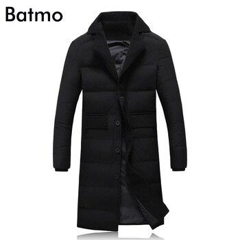 Batmo 2018 new arrival winter high quality white duck down jackets men,long jackets men,winter warm coat plus-size M-5XL B2208