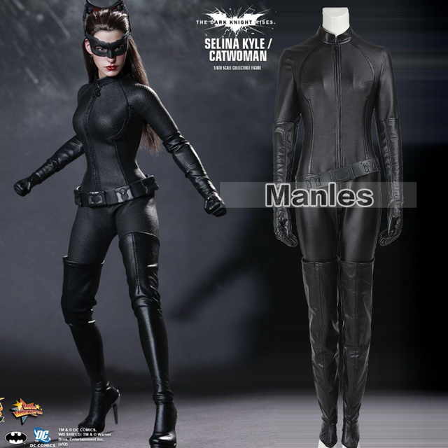 874e2aa3c Catwoman Cosplay Costume The Dark Knight Rises Bodysuit Sexy Cosplay Batman  Selina Kyle Halloween Fancy Costume For Women Adult