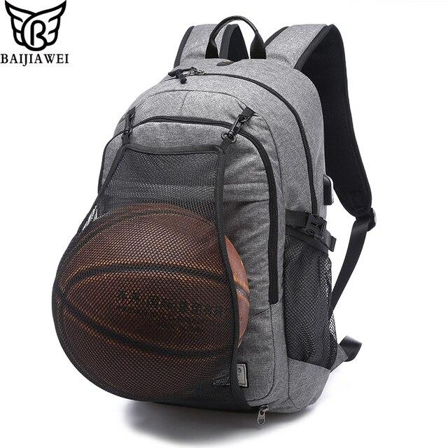Baijiawei novas dos homens laptop sacos mochilas 17 polegada notebook computador bola net mochila escolar homens design de energia usb portátil