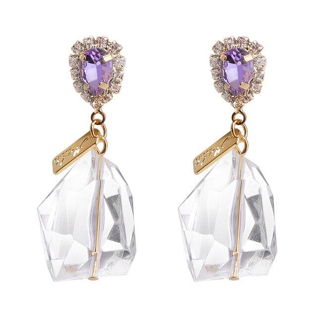 1e75f4a39f15 € 4.77 23% de DESCUENTO|2019 joyería de moda europea pendientes mujer  cristal de Swarovski temperamento moda 925 aguja de plata pendiente de las  ...