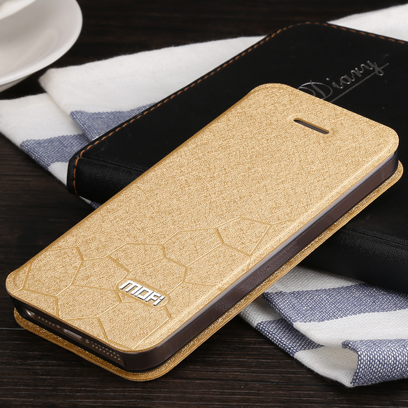 For Iphone 5 5S SE Case On Iphone 5s Mofi Original Leather Flip Book Cover SE Ultra Thin Silicon Leather Accessories Luxury