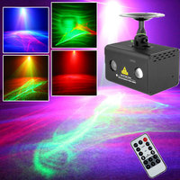 Mini Disco Laser Light LED Party Dance Lumiere RGB Atmosphere Sound lights Sky Aurora WaterWave Effect With Remote