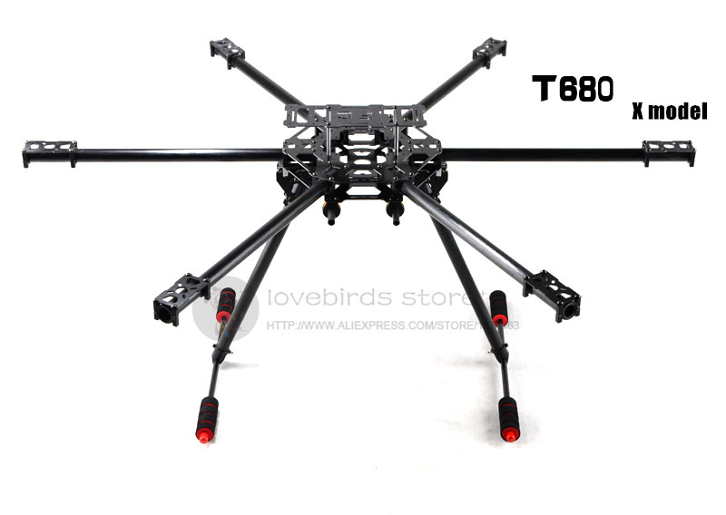 DIY FPV Aerial drones T680 hexacopter glass fiber/pure carbon fiber Fixed frame with folding landing gear hj 1100p universal automatic retractable carbon fiber landing gear electric shrink tripod for diy fpv drones multirotor
