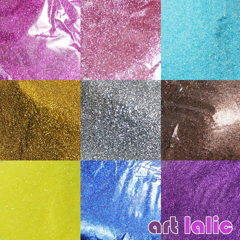 10G Holographic Glitter Powder Shining Sugar Silver Nail Fine Glitter Dust Nail Art Decorations Manicure 0.2mm