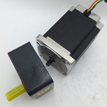 Gear Reducer Stepper Motor Ratio1:50, NEMA34, 6A, 6.5NM, 929oz-in, L ,98mm For Packaging Machinery New In Box