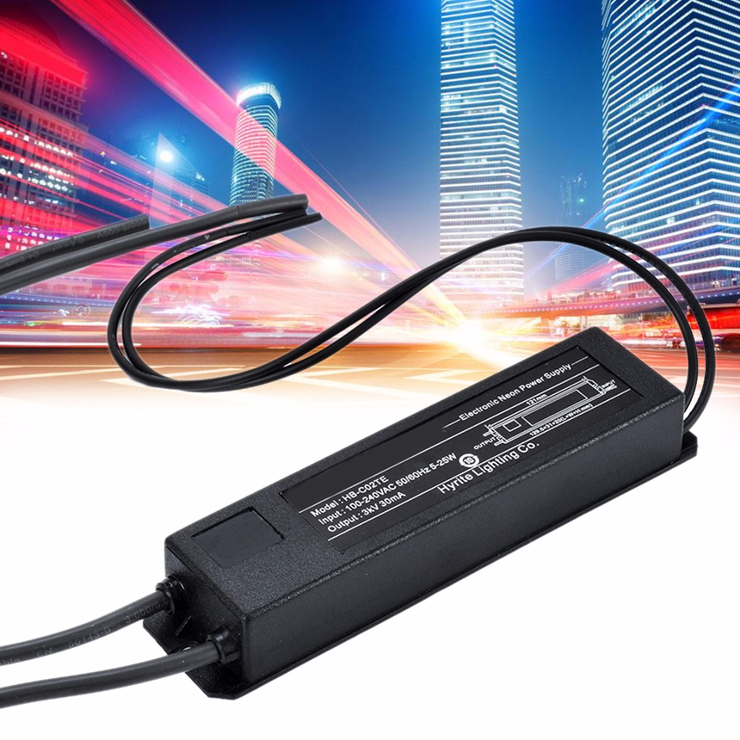 High Quality Electronic Neon Light Sign Transformer Power Supply HB-C02TE 3KV 30mA 5-25W BlackHigh Quality Electronic Neon Light Sign Transformer Power Supply HB-C02TE 3KV 30mA 5-25W Black