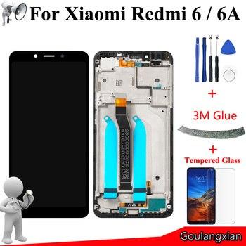 5.45 ''AAA Kwaliteit LCD met Frame Voor Xiaomi Redmi 6A Lcd Touch Screen Digitizer Vergadering Voor Redmi 6 LCD Vervangen Nieuwe