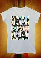 Geek Nerd Cat Kitten Meow Cool Men Women Unisex T Shirt  Top Vest 1115 New Shirts Funny Tops Tee