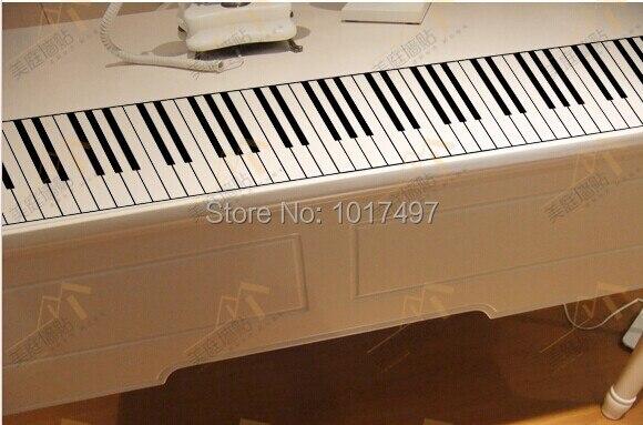 Envío libre 88 Tecla de Piano Pegatinas de Pared, Piano de La Música Del Teclado