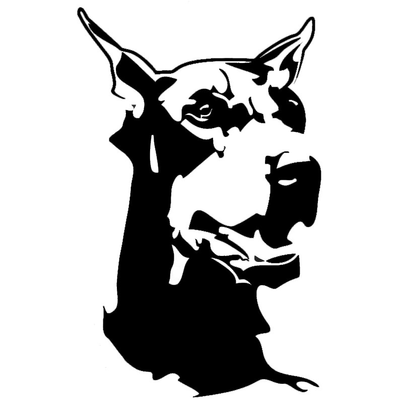 9.2*14.7CM Doberman Animal Car Decoration Window Stickers Classic Fashion Motorcycle Car Sticker C6-1462