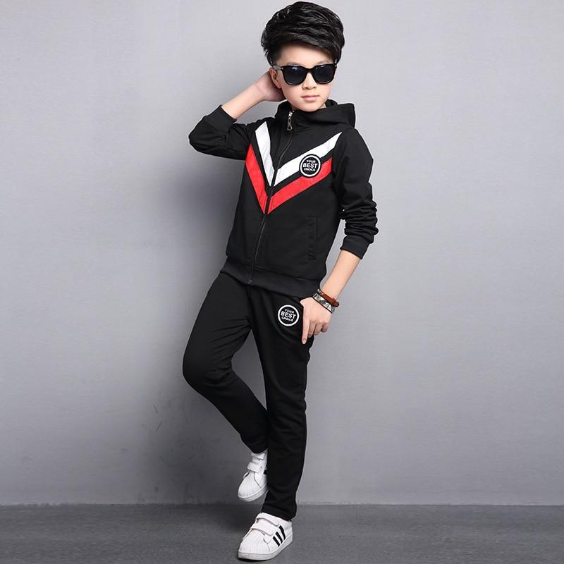 Kids boys spring / autumn 2 pcs set 2017 new baby boys fashion clothing big virgin suit 4/5/6/7/8/9/10/11/12/13