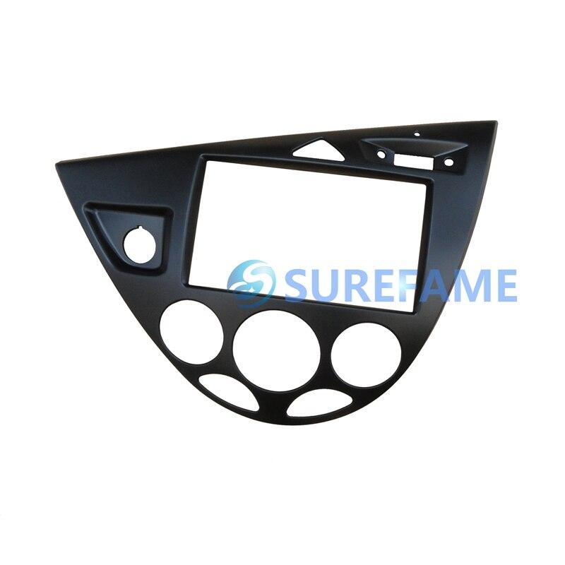 Двойная Din Автомобильная магнитола установка объемная панель для Ford для Focus MK1/Fiesta LHD фасции пластина Dash монтажный комплект внутренняя отделка Facia