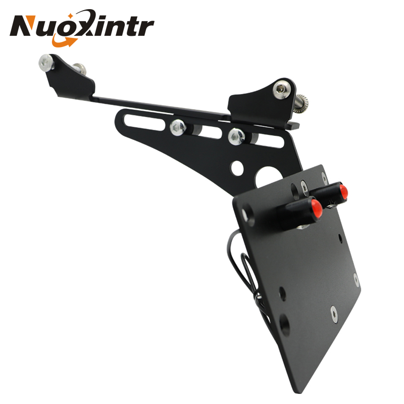 Nuoxintr Motorcycle Rear Tail Light Side Mount License Plate Bracket For Harley Sportster XL883 XL1200 Iron883 1200 72 48 motorcycle rear adjustable 1 2 3 lowering kit for harley sportster xl883 xl1200 2005 2013 hugger roadster low 48 72