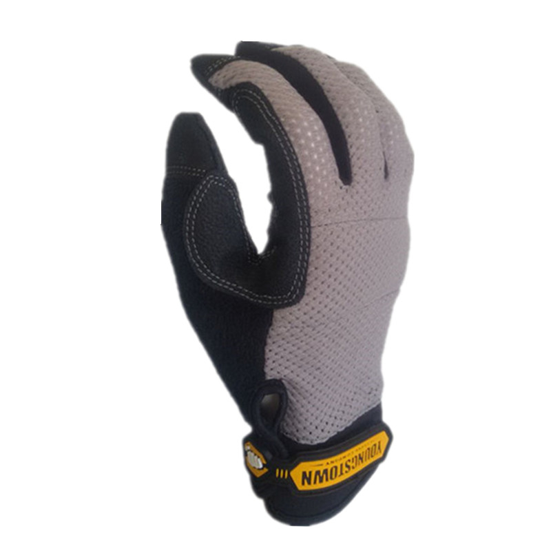 Genuine Highest Quality Performace Extra Durable Puncture Resistance Non-slip  Working Gloves(Grey,Large).