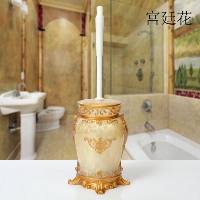 NEWYEARNEW Europe Style Resin Toilet Brush Holder Bathroom Antique ...