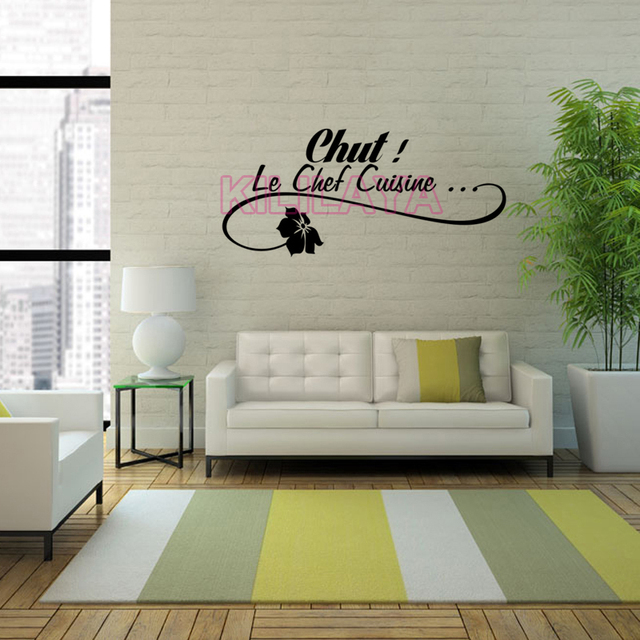 Stickers French Le Chef Cuisine Vinyl Wall Sticker Decals Mural Art Wallpaper For Kitchen Home