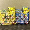 6 unids/set Pokemon Partido Decoración Del Sello De Goma De Plástico Divertido Suministros Fiesta de Cumpleaños Para Niños Pokemon Decoración