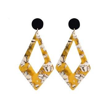 30f2a2651305 Nueva moda pendiente bohemio amarillo exagerado ácido acético placa  pendiente para las mujeres geometría leopardo pendiente regalo venta al por  mayor