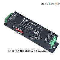 Led controlador LT-854-5A CV DMX-PWM decoder led; LTECH DC12-24V salida 5A * $ number CANALES de entrada para la lámpara led