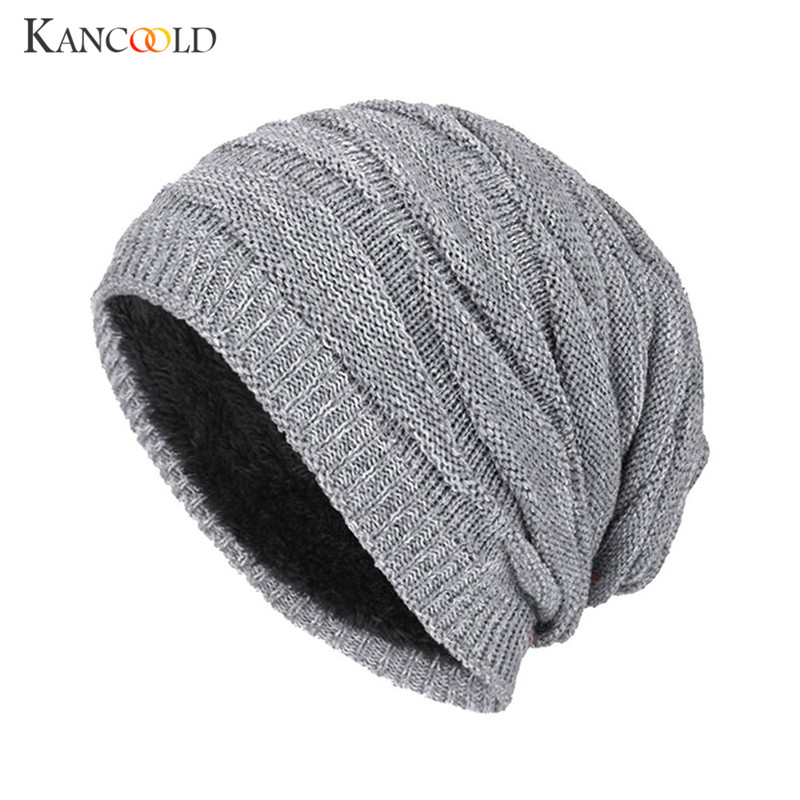 Men Women/'s Knitted Slouchy Beanie Oversize Winter Hat Ski Cap w//Fur Lining Gray