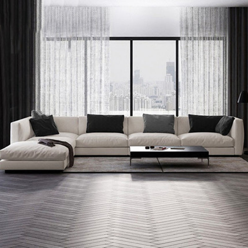 Cloth Sofa Chaise Combination Removable And Washable Modern