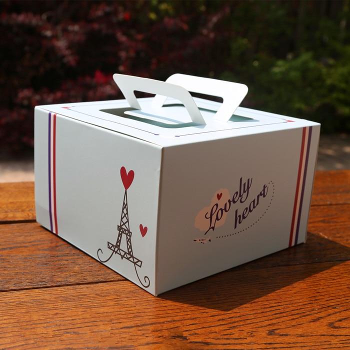 blue tower сердце украшения портативный cake box чизкейк мусс коробки выпечки Десерт упаковка выступает