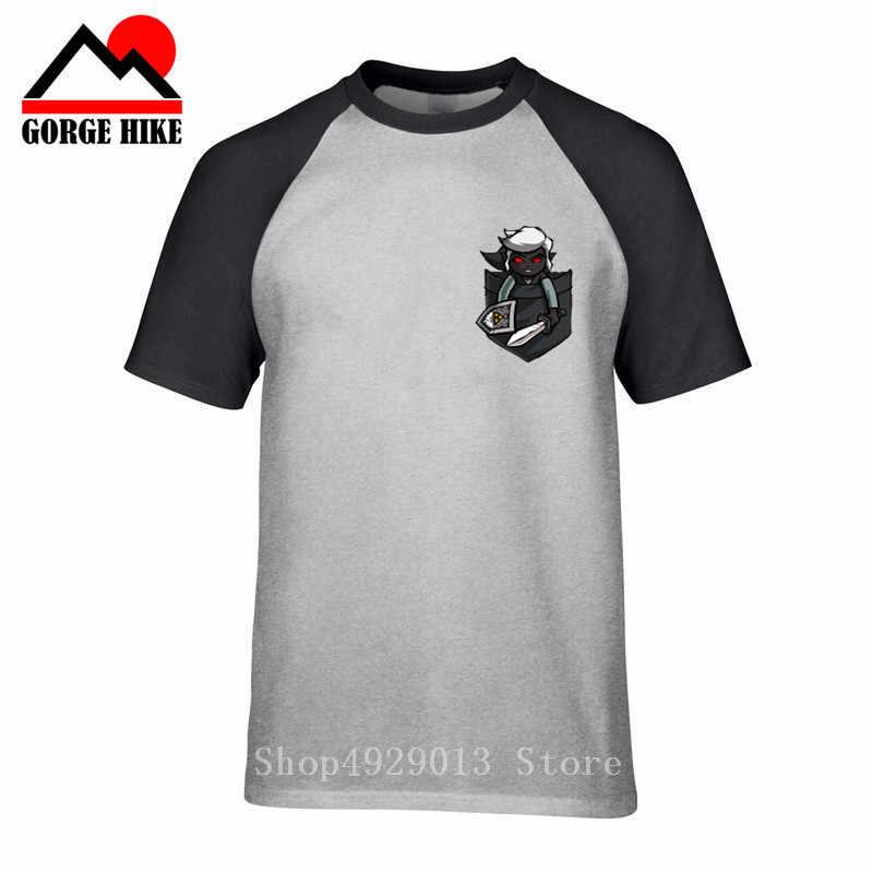 Игра аниме футболка Мужская хлопковая футболка Черная мужская легенда Zelda Majora's Mask Dark Link Pocket t-shirt Cause Loose TopsTee shirt