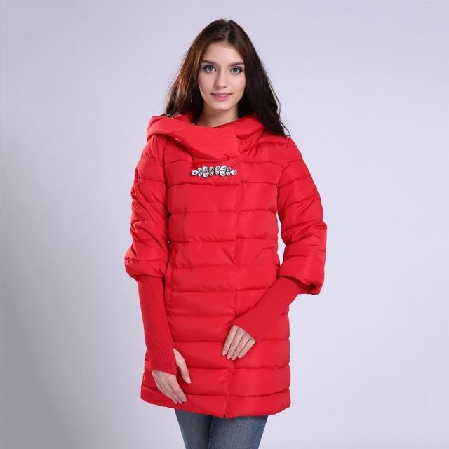 Chaqueta de invierno Mujeres Abrigo largo Parkas Femenino Engrosamiento Ropa de Abrigo