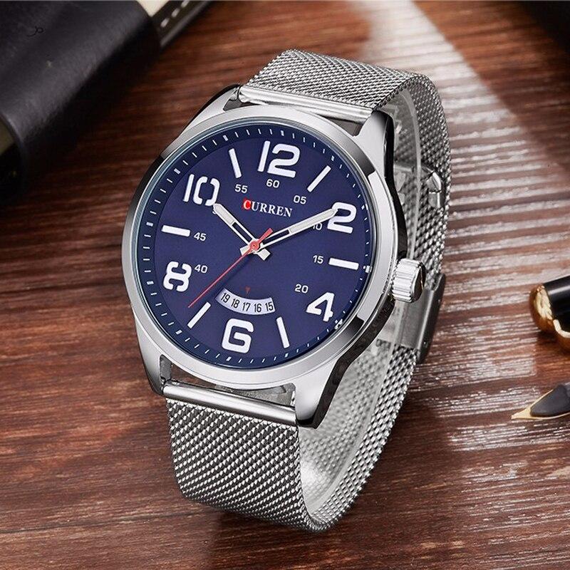 Curren Watches Men Top Luxury Cow Quartz-Watches Sport Men's Watches Waterproof Relogio Heren Hodinky 8236