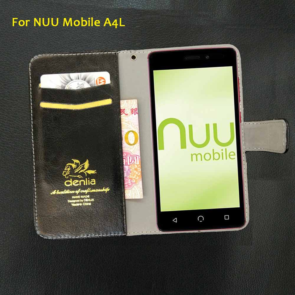 TOP New! NUU Mobile A4L Case 5 Colors Flip Luxury Leather