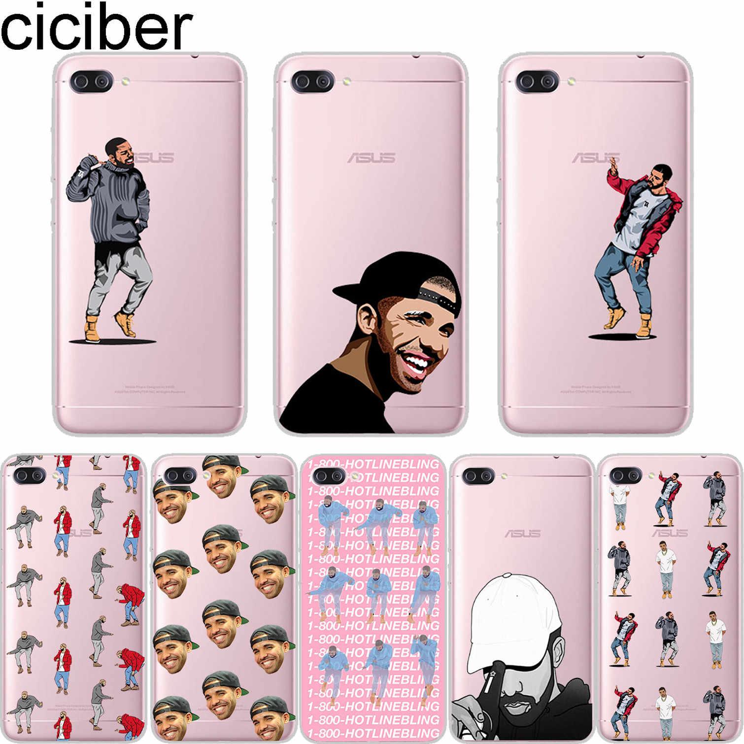 ciciber Singer Drake For ASUS ZenFone 5 4 3 3S Max Pro Plus Laser Deluxe  Selfie Z Q Lite Soft Cover Clear TPU Phones Cases Capa