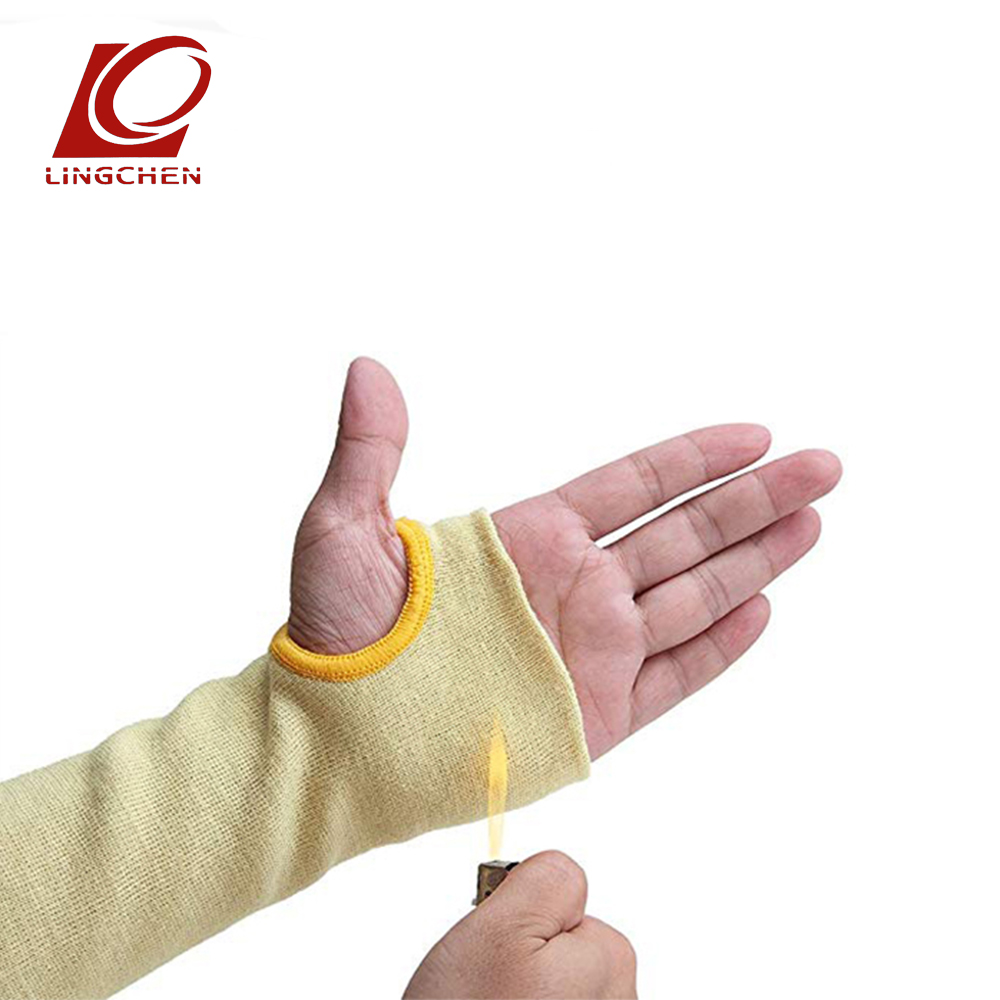 cooking Yellow work Protective elbow anti Cut heat resistant Safety army compression sleeve with thumb hole все цены