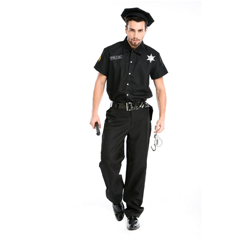 Hot sale sexy black policeman costume carnival party costume M4715