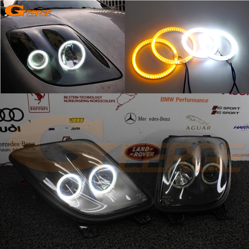 For Fiat Coupe 1993 1994 1995 1996 1997 1998 1999 2000 Excellent Ultra bright Dual Color Switchback smd LED Angel Eyes kit for toyota chaser avente jzx100 tourer 1996 1997 1998 1999 2000 2001 excellent multi color ultra bright rgb led angel eyes kit