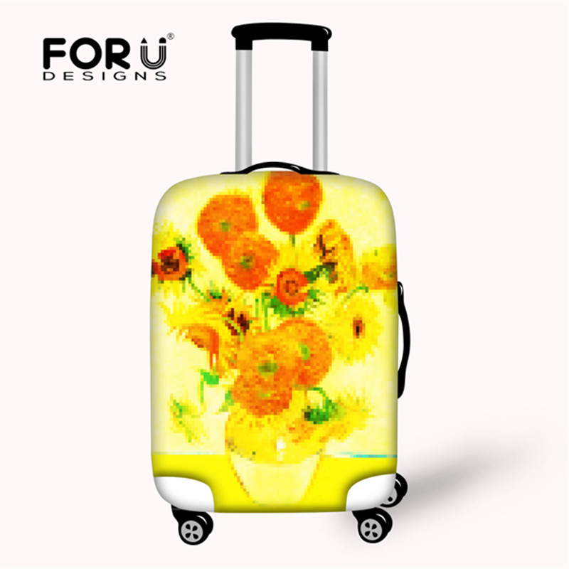 FORUDESIGNS Van Gogh Oil Painting Printed Sunflower Luggage Protective Cover for 18-28 inch Suitcase Anti- Dust Luggage Covers iarts aha072962 hand painted thick texture of knife painting trees oil painting red 60 x 40cm